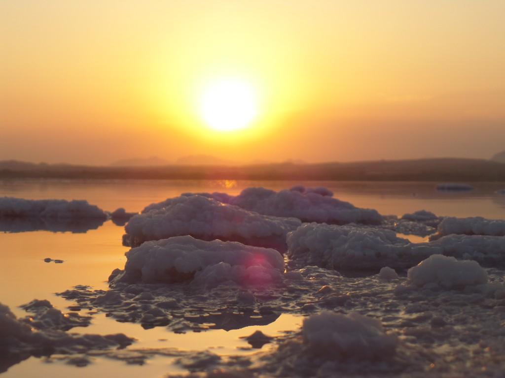 Anochecer en la Laguna Salada de Torrevieja