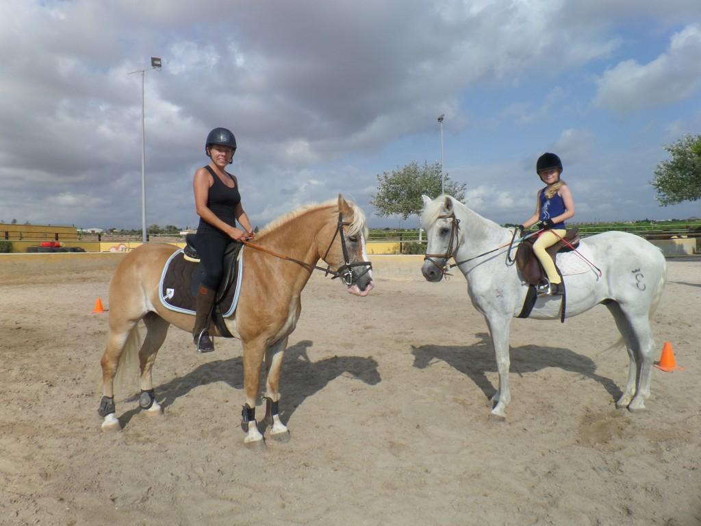 Clases de equitación, verano de 2015